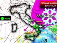 Meteo: da Venerdì 22 GRAN CEFFONE di GHIACCIO sull'Italia, arrivano forti VENTI GELIDI e pure NEVE. Ecco DOVE