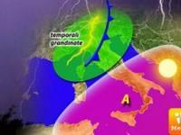 Meteo: da Lunedì CELLULA TEMPESTOSA in LOTTA CONTRO il caldo di SCIPIONE. GRANDINE.