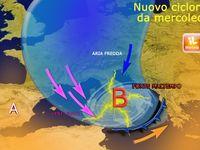 METEO: CICLONE Potentissimo  al Centro-Sud con NEVE, copiosa in Abruzzo anche 80cm. MAPPE e [VIDEO]
