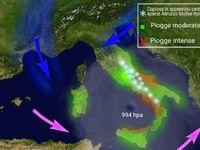 METEO: maltempo, CICLONE di 989 mBar, Venti di tempesta, NEVE, 80 cm in Abruzzo Mappa e [VIDEO]