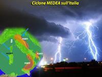 METEO: ciclone MEDEA sull'Italia, MALTEMPO con piogge e temporali e neve