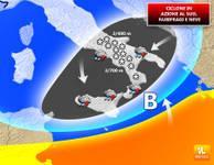 METEO: Oggi ciclone ionico in AZIONE, nubifragi e NEVE al Sud [VIDEO]