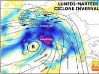 Meteo: Lunedì e Martedì CICLONE con NEVE e nubifragi, ecco le zone più colpite