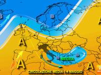 Meteo - Clima PAZZO, TENDENZA ESCLUSIVA mese di Maggio, niente PRIMAVERA al Nord tra NUBIFRAGI e clima FRESCO
