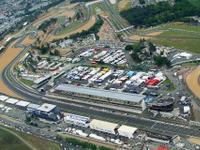 Una visuale aerea del circuito di Le Mans