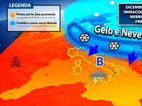 Meteo: DICEMBRE sarà altalenante. IMMACOLATA con clima CALDO e NEBBIE, poi verso Natale FREDDO e NEVE