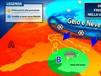 Meteo: aggiornamento per DICEMBRE. NATALE con aria gelida e neve [PROIEZIONI]