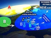 Meteo: DICEMBRE freddo, instabile e anche con la NEVE. Scopriamo dove