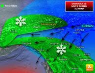Meteo: arriva il Burian, tracollo termico. Neve in Pianura al Centro-Nord [VIDEO]