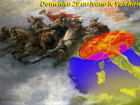 METEO - ciclone Valchirie sull'Italia, da Domenica 29 temporali furiosi al Nord