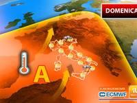 Meteo: DOMENICA, l'ANTICICLONE dal CUORE CALDO Abbraccia l'Italia, Ma Occhio a Qualche TEMPORALE. Ecco DOVE