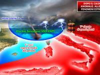 METEO: dal CALDO anomalo al rischio di TEMPORALI VIOLENTI