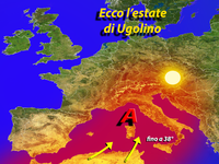 METEO - l'anticiclone Ugolino anticipa l'estate sull'Italia [VIDEO]
