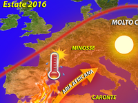 METEO ~ Caronte, Minosse e Cerbero pronti ad INFUOCARE l'estate 2016. Rischio SICCITA'