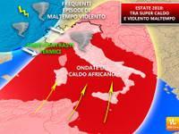 METEO: ESTATE 2018, CALDO estremo e fenomeni violenti come i tornado. Ecco perché