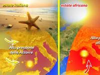 METEO didattica / caldo africano e caldo azzorriano, due estati diverse!