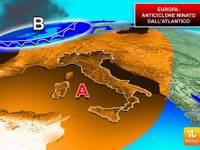 EUROPA: alta pressione ancora minata dalle correnti perturbate