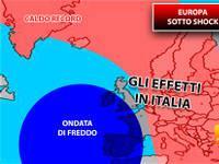 Meteo: EUROPA sotto SHOCK, ONDATA di FREDDO in Spagna, CALDO RECORD in Groenlandia. Ecco gli EFFETTI in Italia