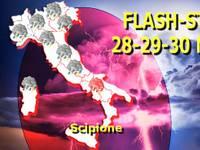 Meteo: Lunedì 28 e Martedì 29 una CELLULA TEMPESTOSA in LOTTA CONTRO il Caldo di Scipione. GRANDINE