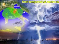 Meteo ITALIA / passaggi TEMPORALESCO al CENTRO, dalla PRIMAVERA all'AUTUNNO!