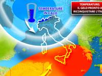 Meteo: TEMPERATURE, il GELO POLARE sta per riconquistare l'Italia. Vediamo quando e dove farà più FREDDO