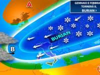 Meteo: GENNAIO e FEBBRAIO, si teme il ritorno del famigerato BURIAN. Significato e CONSEGUENZE per l'Italia