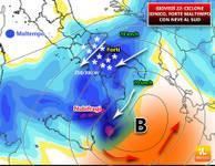 METEO: tra poche ore Bufere di NEVE al Sud, NUBIFRAGI su Sicilia e Calabria [VIDEO]