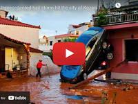 Meteo Cronaca DIRETTA: GRECIA, una TERRIBILE GRANDINATA sommerge la città di KOZANI. Il VIDEO