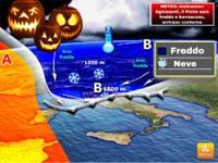 METEO: Halloween/Ognissanti, il Ponte sarà freddo e burrascoso, arrivano conferme