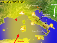 METEO - sole e caldo, ecco Hannibal. Qualche temporale in agguato! [VIDEO]