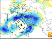 METEO Italia : tra poche ore profondo CICLONE e Neve a quote BASSE  [VIDEO]