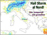 METEO: allerta HAIL STORM al Nord, temporali con grandine! [VIDEO]