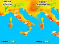 METEO / tutto il caldo del weekend in un click!