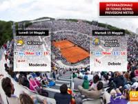 Internzionali di Tennis a Roma. Bel tempo oggi, ma da domani si cambia con piogge e temporali