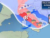 Meteo: Italia ostaggio di piogge, temporali e NEVE. Vediamo cosa accadrà nelle PROSSIME ORE