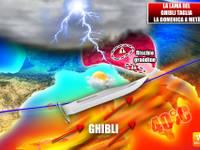 Meteo: il GHIBLI taglia l'ITALIA a metà, DOMENICA tra GRANDINE e CALDO Africano, tra 19 e 41°C