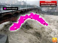 Meteo: LIGURIA, Rischio NUBIFRAGI e Alluvioni Lampo su tutta la Regione. Ecco da Quando