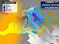 Meteo: Lunedì 17 con nuovo CICLONE ATLANTICO, rischio di NUBIFRAGI e NEVE copiosa