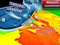 Meteo: TENDENZA COMPLETA MESE di MAGGIO, AVVIO di ARIA ARTICA,poi BOOM CALDO a 35°C, ecco DOVE