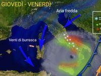 METEO ITALIA: tutto pronto per l'arrivo di un CICLONE di 987 hPa! Maltempo e NEVE al CentroSud, 80cm in Abruzzo [VIDEO]