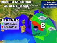 Meteo: CICLONE MEDITERRANEO sulla DOMENICA. Ecco tutte le aree coinvolte, criticità anche su ROMA e NAPOLI