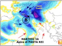 Meteo ITALIA: Martedì 16 FEBBRAIO il CLOU di PANTA REI ! Neve MISTA a BOLOGNA