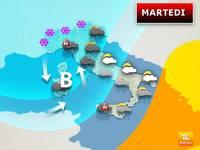 Meteo: MARTEDI', Nuovo Ciclone Carico di Temporali e Nubifragi. Ecco le Previsioni