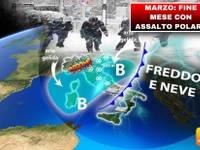 Meteo > MARZO, BOOM ESTREMO dell'INVERNO a fine mese, ASSALTO POLARE con FREDDO e NEVE. Ecco DOVE