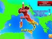Meteo,TEMPERATURE: 5 giorni di CALDO, poi DOCCIA FREDDA, CROLLO di 8°C, ecco le PRIME STIME