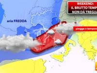 Meteo: Domenica 20 Gennaio, Italia in ostaggio di PIOGGIA e NEVE. Ecco le aree a RISCHIO