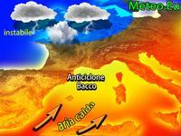 Meteo EUROPA - riscossa AFRICANA con l'ALTA pressione Bacco, gran CALDO ma TEMPORALI in AGGUATO