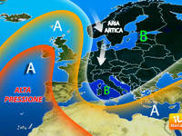 Meteo EUROPA: è super INVERNO, ma alta pressione in AGGUATO