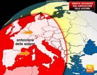 EUROPA: avanza l'alta pressione delle Azzorre