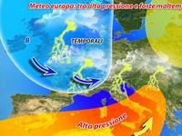 Meteo: incursioni temporalesche nel CUORE dell'Europa ma avanza l'ALTA PRESSIONE